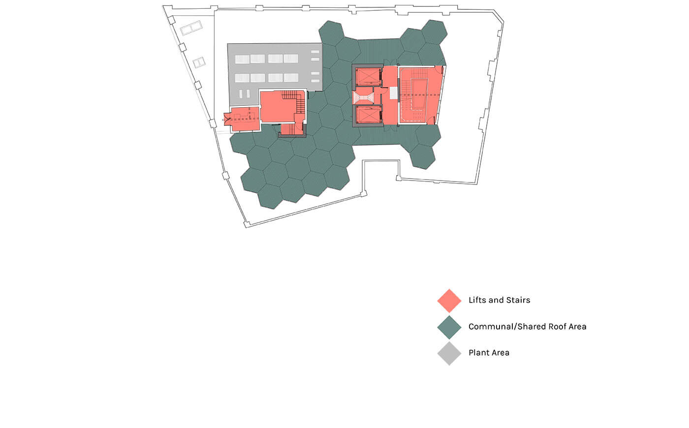 Roof Floor plan - 86 Princess Street, Manchester